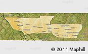 Physical Panoramic Map of Chitato, satellite outside