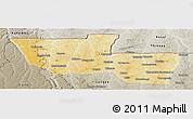 Physical Panoramic Map of Chitato, semi-desaturated