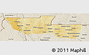 Physical Panoramic Map of Chitato, shaded relief outside