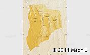 Physical Map of Lucapa, lighten