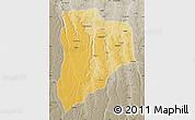 Physical Map of Lucapa, semi-desaturated