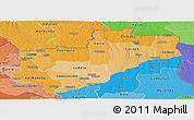 Political Shades Panoramic Map of Lunda Norte