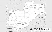 Silver Style Simple Map of Lunda Norte