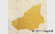 Physical Map of Lunda Sul, lighten