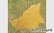 Physical Map of Lunda Sul, satellite outside