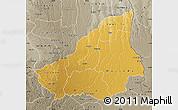 Physical Map of Lunda Sul, semi-desaturated