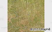 Satellite Map of Lunda Sul