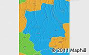 Political 3D Map of Muconda