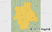 Savanna Style 3D Map of Muconda
