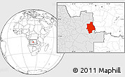 Blank Location Map of Muconda, highlighted country
