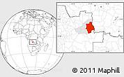 Blank Location Map of Muconda, highlighted parent region