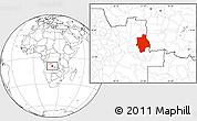 Blank Location Map of Muconda