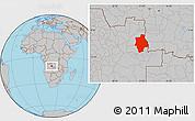 Gray Location Map of Muconda