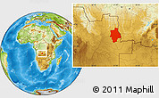 Physical Location Map of Muconda