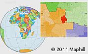 Political Location Map of Muconda