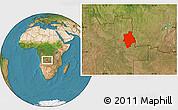 Satellite Location Map of Muconda