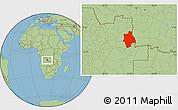Savanna Style Location Map of Muconda