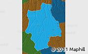 Political Map of Muconda, darken