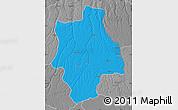 Political Map of Muconda, desaturated