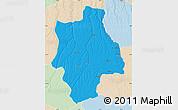 Political Map of Muconda, lighten