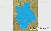 Political Map of Muconda, satellite outside
