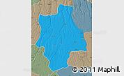 Political Map of Muconda, semi-desaturated