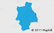 Political Map of Muconda, single color outside