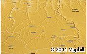 Physical Panoramic Map of Muconda