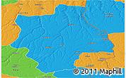 Political Panoramic Map of Muconda