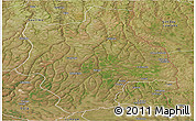 Satellite Panoramic Map of Muconda