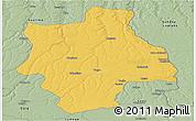 Savanna Style Panoramic Map of Muconda