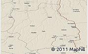Shaded Relief Panoramic Map of Muconda