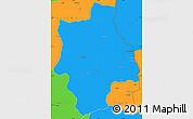 Political Simple Map of Muconda