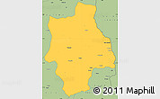 Savanna Style Simple Map of Muconda