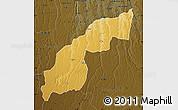 Physical Map of Saurimo, darken