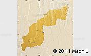 Physical Map of Saurimo, lighten