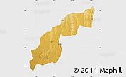Physical Map of Saurimo, single color outside