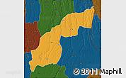 Political Map of Saurimo, darken