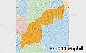 Political Map of Saurimo, lighten