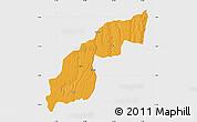 Political Map of Saurimo, single color outside