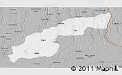 Gray Panoramic Map of Saurimo