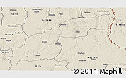 Shaded Relief Panoramic Map of Saurimo