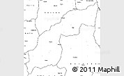 Blank Simple Map of Saurimo