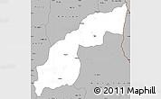 Gray Simple Map of Saurimo