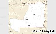 Classic Style Simple Map of Alto Zambeze