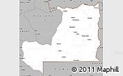 Gray Simple Map of Alto Zambeze
