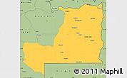 Savanna Style Simple Map of Alto Zambeze