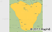 Savanna Style Simple Map of Luacano