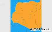 Political Simple Map of Luau