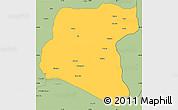 Savanna Style Simple Map of Luau